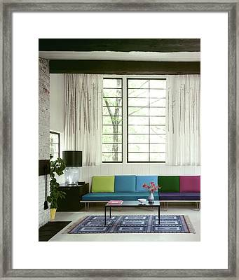 A Colourful Living Room Framed Print