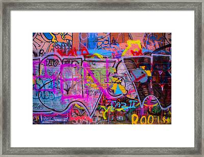 A Colourful Wall. Framed Print