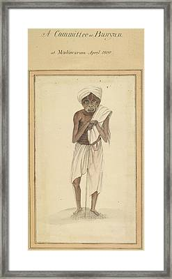 A Committee Or Banyan Framed Print by British Library