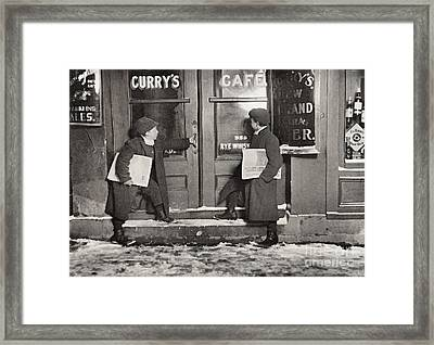 A Common Case Of Team Work Framed Print