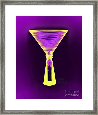 A Complementary Martini Framed Print