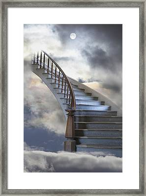 A Composite Entitled Staircase Framed Print by Robert Bartow