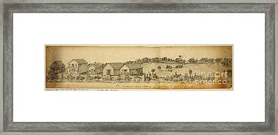 A Confederate Bull Battery Previous To The Battle Of Bull Run Framed Print by Celestial Images