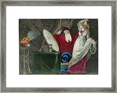 A Conjuror Framed Print by British Library