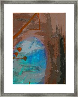 A Contaminated Fetus Inside Her Left Breast Under Investigation Framed Print by Sir Josef - Social Critic - ART