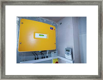 A Control Panel For Solar Voltaic Framed Print by Ashley Cooper