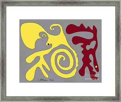 A Conversation With One's Self Or Not.  Framed Print by Cathy Peterson
