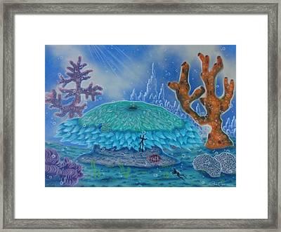 A Coral Kingdom Framed Print