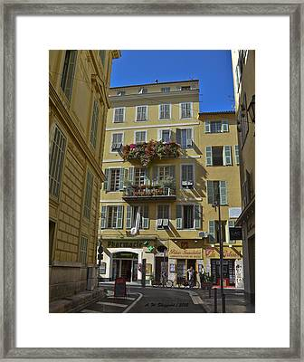 Framed Print featuring the photograph A Corner In Nice by Allen Sheffield