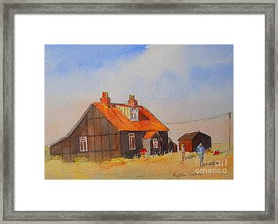 Framed Print featuring the painting A Corner Of Dungeness by Beatrice Cloake