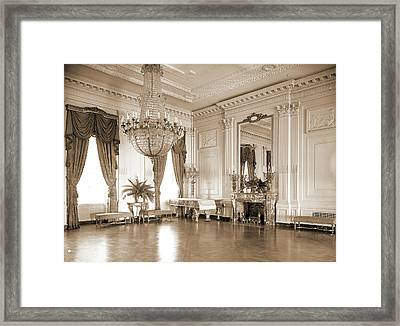 A Corner Of The East Room, White House, Official Residences Framed Print by Litz Collection