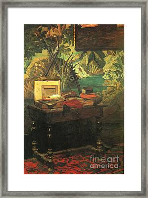 A Corner Of The Studio Framed Print by Claude Monet