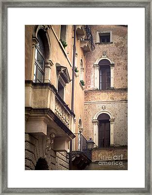 A Corner Of Vicenza Italy Framed Print