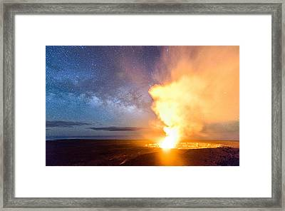 A Cosmic Fire Framed Print