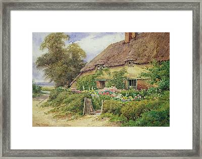 A Cottage At Hythe Framed Print by Hetty Richards