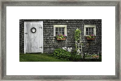 A Cottage Garden - Essence Of Mid Coast Maine Framed Print by Thomas Schoeller