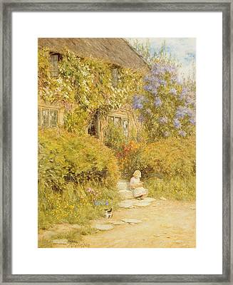 A Cottage Near Crewkerne  Framed Print