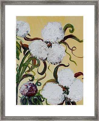 A Cotton Pickin' Couple Framed Print by Eloise Schneider