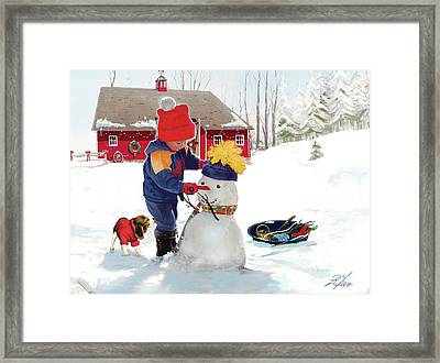 A Country Christmas Framed Print