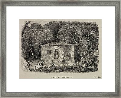 A Country Cottage In Masham Framed Print by British Library