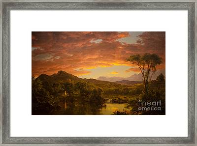 A Country Home Framed Print by Celestial Images