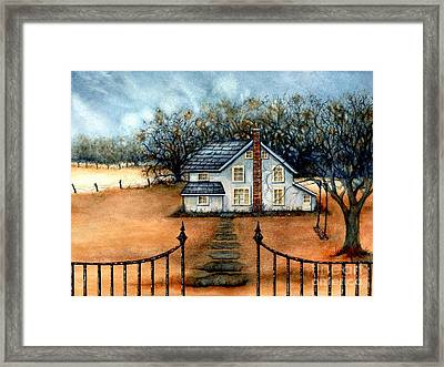 A Country Home Framed Print by Janine Riley