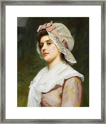 A Country Maid Framed Print by Charles Sillem Lidderdale