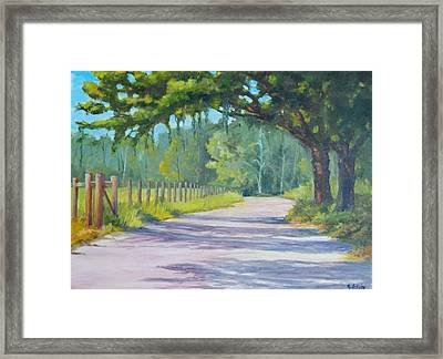 A Country Road Framed Print by Rich Kuhn