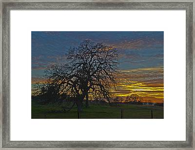 A Country Sunset Framed Print by Richard Risely