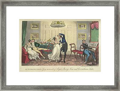 A Couple Dancing Framed Print