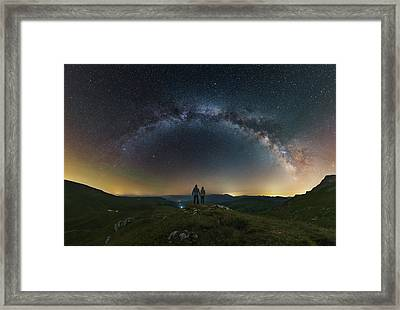 A Couple Gazing At The Milky Way Framed Print by Yuri Zvezdny