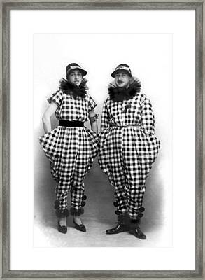 A Couple In Amazing Outfits Framed Print by Underwood Archives