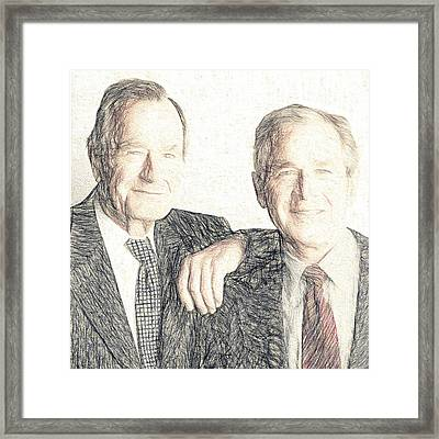 A Couple Of Guys From Texas #1 Framed Print by Will Barger
