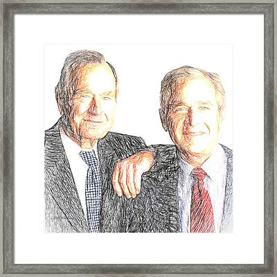 A Couple Of Guys From Texas #2 Framed Print by Will Barger