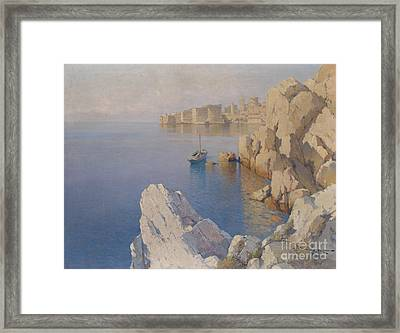 A Cove In Dubrovnik Framed Print by Celestial Images