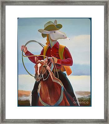A Cowboy Framed Print by Jukka Nopsanen