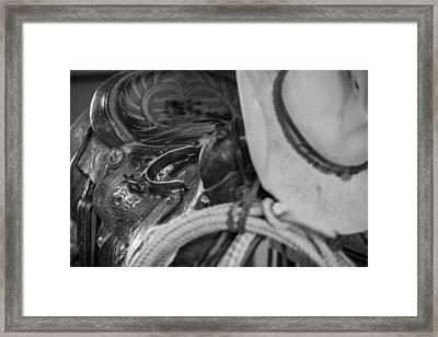 A Cowboy's Gear Framed Print