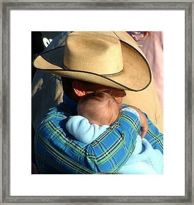 A Cowboy's Love Framed Print by Marilyn Smith