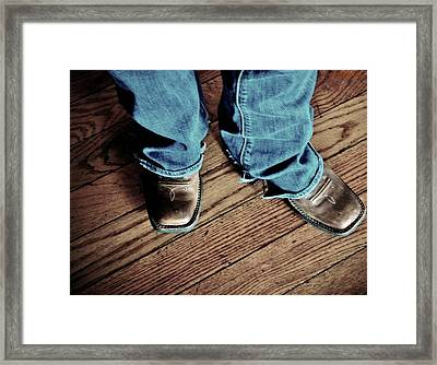 A Cowgirl Framed Print by Chris Berry