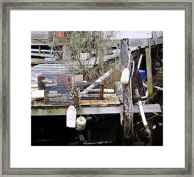 A Crab Fishermans Still Life Framed Print