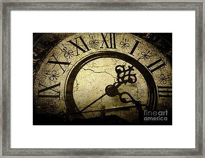 A Crack In Time Framed Print by Sharon Kalstek-Coty