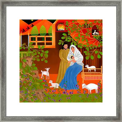A Cradle In Bethlehem Framed Print by Latha Gokuldas Panicker