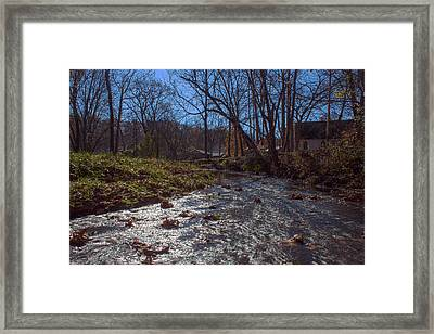 A Creek Runs Though It Framed Print by Thomas Sellberg