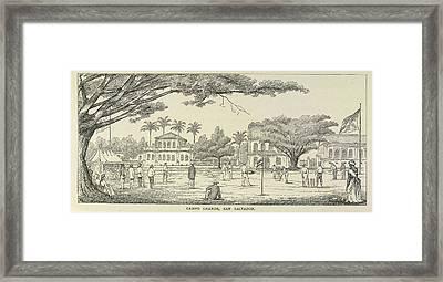 A Cricket Match Framed Print
