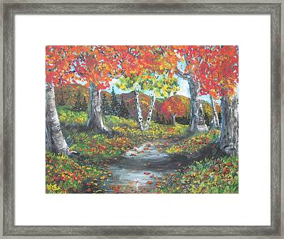 A Crisp Afternoon Framed Print