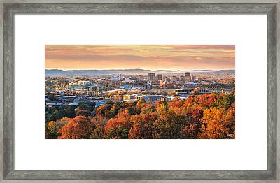 A Crisp Fall Morning In Chattanooga  Framed Print