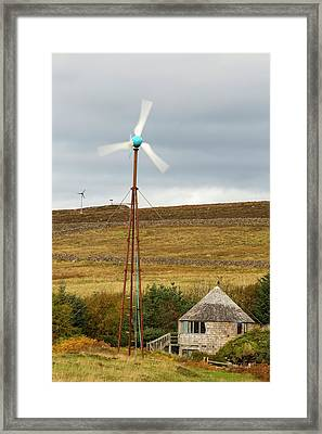 A Croft Powered By Wind And Solar Framed Print by Ashley Cooper