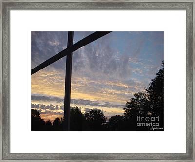 A Cross The Sky Framed Print by Lyric Lucas