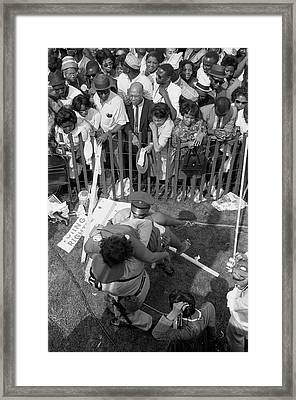 A Crowd Of African Americans Framed Print