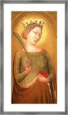 A Crowned Virgin Martyr - Facsimile Framed Print by Li   van Saathoff